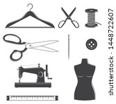 set of sewing dressmaking and... | Shutterstock .eps vector #1448722607