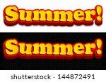 3d Summer Typography Design ...