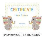 kids certificate tamplate ... | Shutterstock .eps vector #1448743307