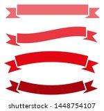 set of red retro ribbons.... | Shutterstock .eps vector #1448754107