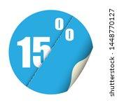 round sticker percent discount. ... | Shutterstock .eps vector #1448770127