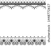lace pattern vector greeting... | Shutterstock .eps vector #1448772617