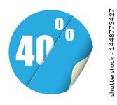 round sticker percent discount. ... | Shutterstock .eps vector #1448773427