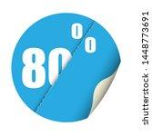 round sticker percent discount. ... | Shutterstock .eps vector #1448773691