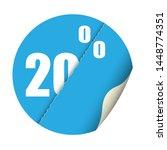 round sticker percent discount. ... | Shutterstock .eps vector #1448774351
