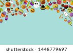 halloween background. party... | Shutterstock .eps vector #1448779697