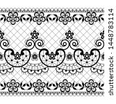 seamless lace vector pattern  ... | Shutterstock .eps vector #1448783114