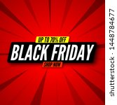black friday sale banner on red ... | Shutterstock .eps vector #1448784677