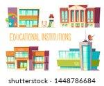 educational institutions set ...   Shutterstock .eps vector #1448786684