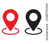 red and black maps pin.... | Shutterstock .eps vector #1448794544