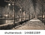 Road In The Winter Night