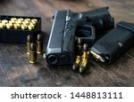 Guns and ammunition placed in a ...