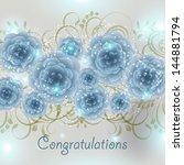 wedding invitation card | Shutterstock .eps vector #144881794