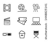 cinema icon set isolated vector ... | Shutterstock .eps vector #1448825141