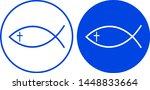 jesus fish icon. vector... | Shutterstock .eps vector #1448833664