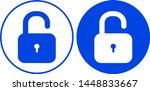 lock icon set. vector... | Shutterstock .eps vector #1448833667