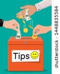 red tip box full of cash....   Shutterstock .eps vector #1448835584