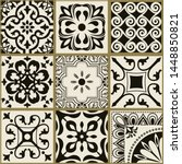 collection of 9 seamless tiles... | Shutterstock .eps vector #1448850821