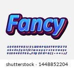 colorful fancy alphabet design... | Shutterstock .eps vector #1448852204
