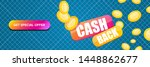 vector cash back icon with...   Shutterstock .eps vector #1448862677