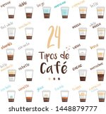 set of 24 coffee types and...   Shutterstock .eps vector #1448879777