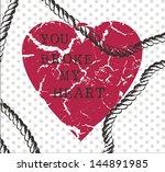 illustrations whit heart | Shutterstock .eps vector #144891985