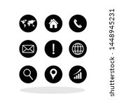 set of web icons in flat style. ... | Shutterstock .eps vector #1448945231
