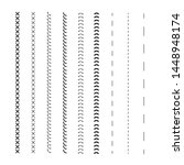 detail stitched vector patterns.... | Shutterstock .eps vector #1448948174