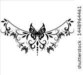 beautiful butterfly pattern... | Shutterstock .eps vector #1448964461