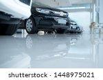 White Floor For New Car Parkin...
