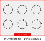collection arrows vector... | Shutterstock .eps vector #1448988281