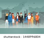 environment toxic gas pollution ... | Shutterstock .eps vector #1448996804