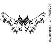 beautiful butterfly pattern... | Shutterstock .eps vector #1449005204