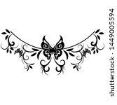 beautiful butterfly pattern... | Shutterstock .eps vector #1449005594