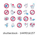 allergy and symptoms line color ...   Shutterstock .eps vector #1449016157