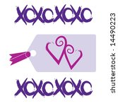 love and kisses tag graphic... | Shutterstock . vector #14490223