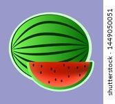 watermelon sticker vector... | Shutterstock .eps vector #1449050051