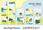 social media pack template for... | Shutterstock .eps vector #1449051317