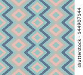ethnic rhombus pattern in retro ... | Shutterstock .eps vector #144907144