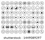 set of 70 outlined web icons to ...