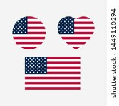american flag icon sign... | Shutterstock .eps vector #1449110294