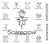 scarecrow hand draw icon....