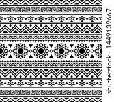 tribal ethnic pattern in black...   Shutterstock .eps vector #1449139667