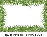 new zealand leaves frame | Shutterstock .eps vector #144915025