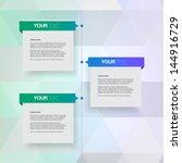 modern colorful timeline design ... | Shutterstock .eps vector #144916729