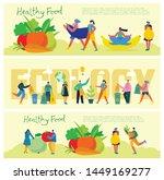vector illustration healthy... | Shutterstock .eps vector #1449169277