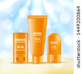 sunscreen and sunblock cream... | Shutterstock .eps vector #1449200864