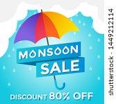 monsoon sale rainy season...   Shutterstock .eps vector #1449212114