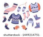 Winter Clothes Vector Set...