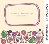 vector template with a frame  ... | Shutterstock .eps vector #1449233921